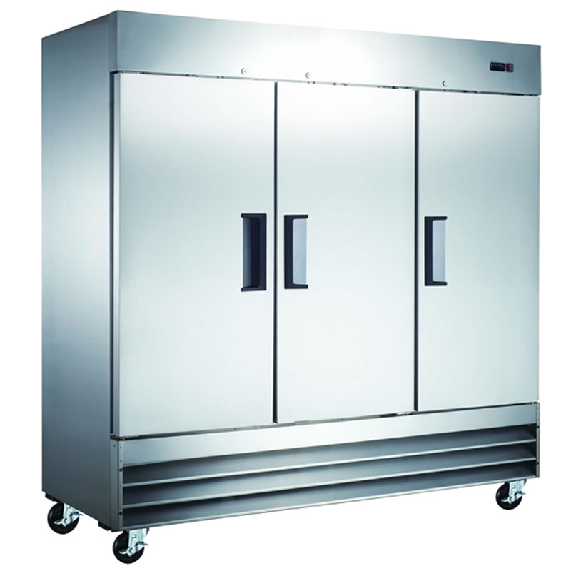 Omcan (FMA) 'Refrigerator, reach in, three-section, 72 cu. ft, 1/2 HP, 9.9 amps