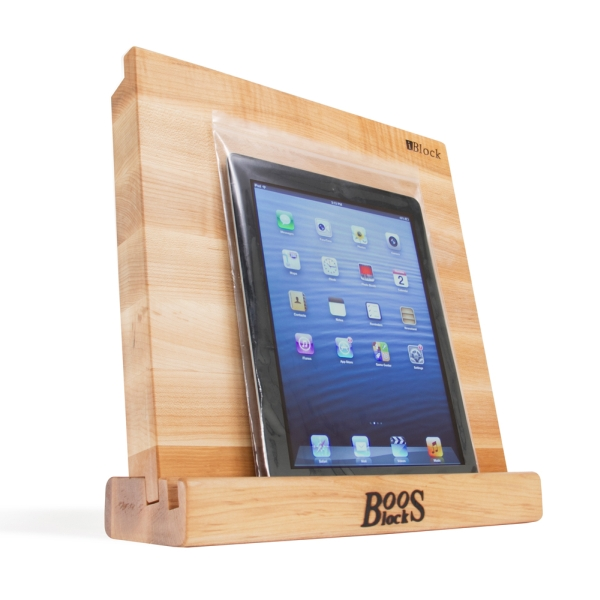 John Boos Maple Plaque Stand W/12X12X1-1/2 BdI-BLOCK