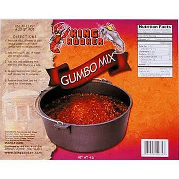 King Kooker Party Size Gumbo, 4 Lb. Fits Perfectly In a King Kooker 20 Qt. Cast Iron Pot