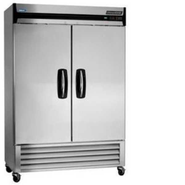 Nor-Lake AdvantEDGE™ Reach-In Freezer, Two-Section, bottom mount compressor, auto defrost, magnetic gaskets, (8) vinyl coated shelves, interior light, stainless steel interior and exterior, hing