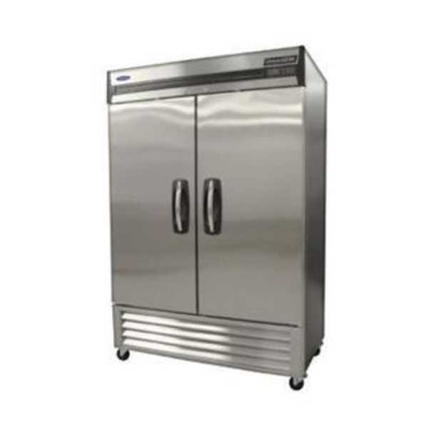 Nor-Lake AdvantEDGE™ Reach-In Refrigerator, Two-Section, bottom mount compressor, auto defrost, magnetic gaskets, (8) vinyl coated shelves, interior light, stainless steel interior and exterior,