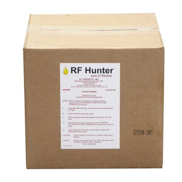 R.F. Hunter 22# Filter Powder - Fda And Nsa Approved. Active (Not Passive) Adsorbant. Most Effective On Market. Doubles Oil Life. RFH-FP22
