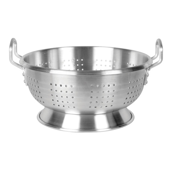 Thunder Group 12 Qt Aluminum Colander With Base And Handle, Heavy Duty