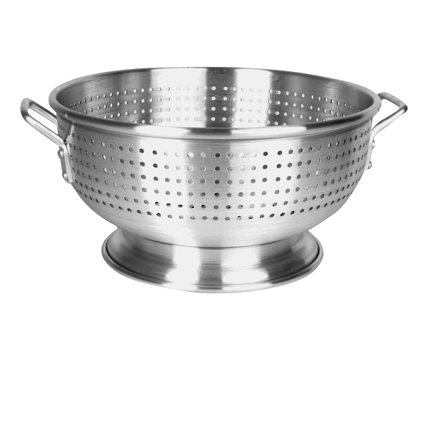 Thunder Group 16 Qt Aluminum Colander With Base And Handle, Heavy Duty
