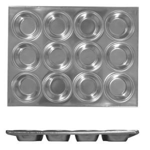 Thunder Group 12 Cup Muffin Pan, 3.5 Oz Each Cup THUN-ALKMP012
