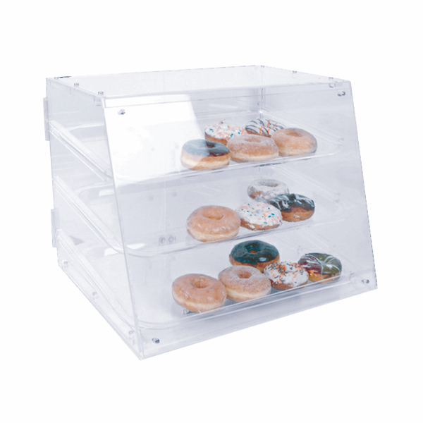 """Thunder Group 21"""" X 17-1/4"""" X 16 1/2"""" Pastry Display With 3 Tray THUN-PLDC001"""
