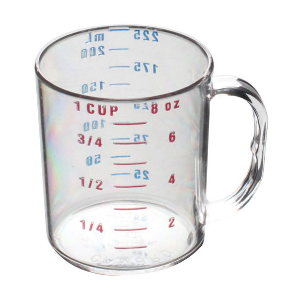 Thunder Group 1 Cup/ 0.25L Polycarbonate Measuring Cup THUN-PLMC008CL