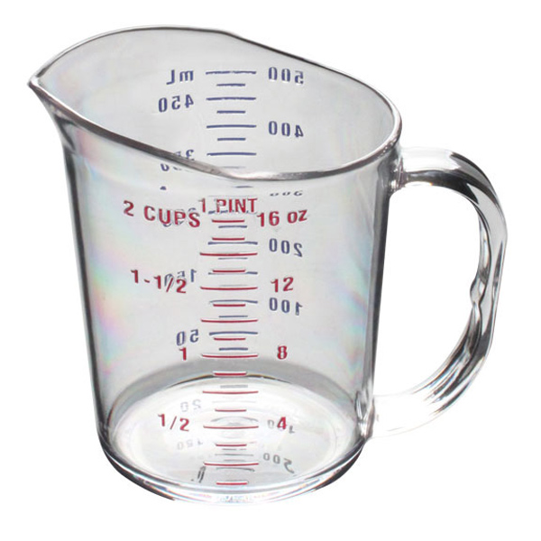 Thunder Group 1 Pint/0.5L Polycarbonate Measuring Cup THUN-PLMC016CL