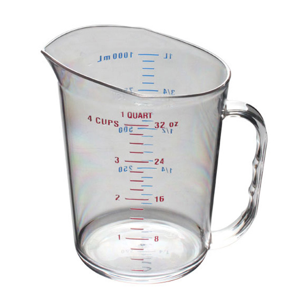 Thunder Group 1 Qt/ 1L Polycarbonate Measuring Cup THUN-PLMC032CL