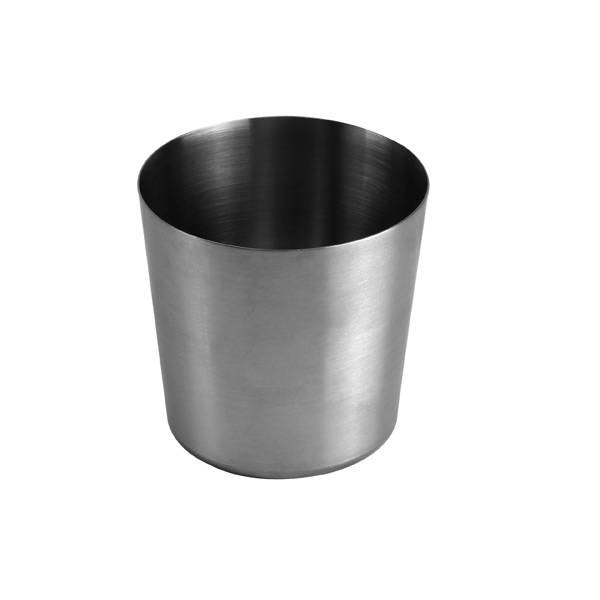 """Thunder Group 13 Oz, 3 3/8""""X 3 3/8""""H French Fry Cup, Stainless Steel, Satin Finished THUN-SLFFC001"""