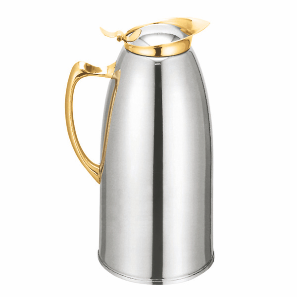 Thunder Group 50 Oz Stainless Steel Lined Carafe, Gold THUN-TWSM150G