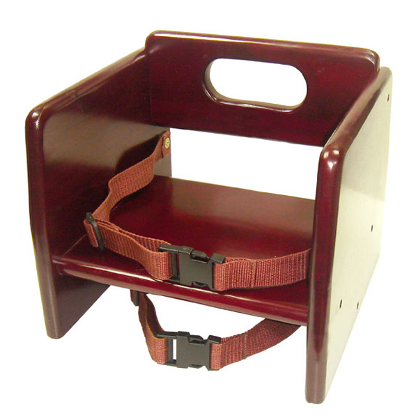 Thunder Group Mahogony Finish Wood Stacking Booster Seat, K/D THUN-WDTHBS020