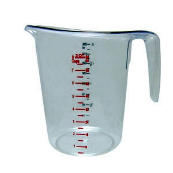 Update International Measuring Cup, 2 Qt. Polycarbonate UPD-MEA-200PC