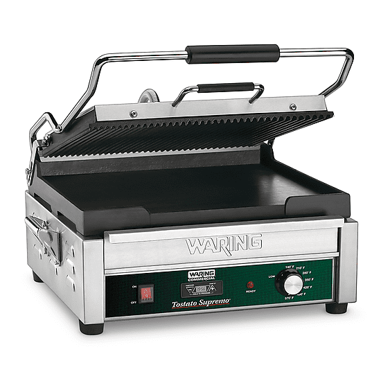 Waring Commercial Dual Panini Press with Timer 120VWDG250T