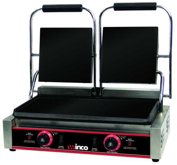 Winco Electric Sandwich Grill W/2Sets 9? Flat Plates