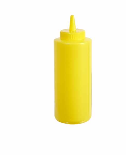 Winco Squeeze Bottle, 12Oz. Yellow, 6 Pc/Pack WIN-PSB12Y