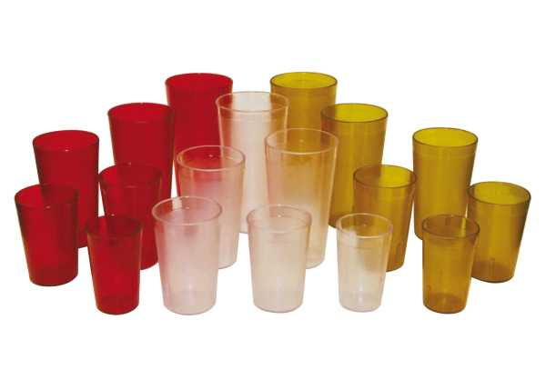 Winco 9 1/2 Oz Clear Pebbled Tumblers WIN-PTP09C